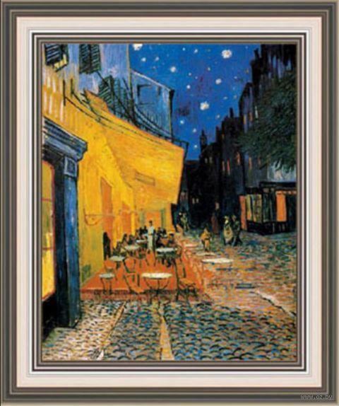 "Вышивка крестом ""Ван Гог. Ночная терраса кафе"" (300х370 мм) — фото, картинка"