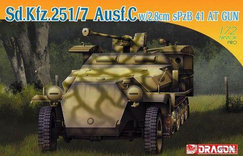 "Полугусеничный бронетранспортер ""Sd.Kfz.251/7 Ausf.C w/2.8cm Spzb 41 AT Gun"" (масштаб: 1/72) — фото, картинка"