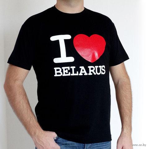 "Футболка мужская Vitaem ""I LOVE BELARUS"" (черная) (XXL)"