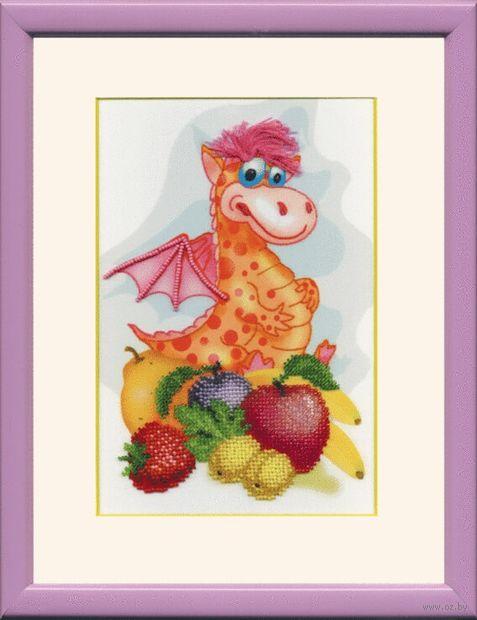 """Вышивка бисером """"Дракон с фруктами"""""""