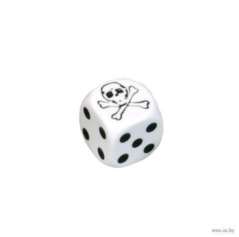 "Кубик D6 ""Череп"" (белый) — фото, картинка"