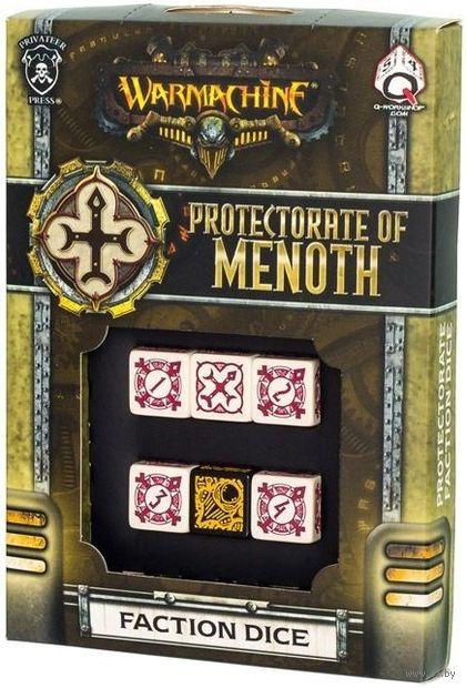 "Набор кубиков ""Warmachine Protectorate of Menoth Faction"" (6 шт.; бежево-красный) — фото, картинка"