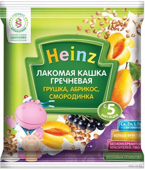 """Детская каша Heinz Baby """"Гречневая. Грушка, абрикос, смородинка"""" (30 г) — фото, картинка"""