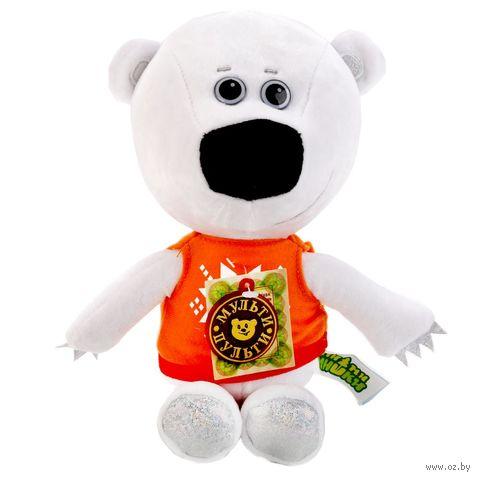 """Мягкая музыкальная игрушка """"Медвежонок Белая тучка"""" (25 см) — фото, картинка"""
