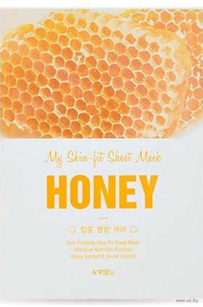"""Тканевая маска для лица """"Honey"""" (25 г) — фото, картинка"""