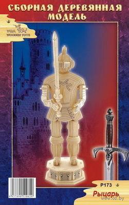 """Сборная деревянная модель """"Рыцарь 1"""" — фото, картинка"""