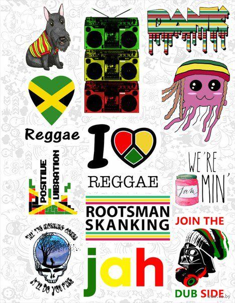 "Набор виниловых наклеек №27 ""Reggae"""