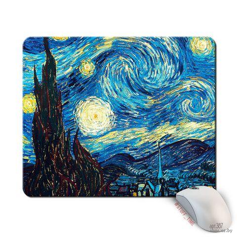 """Коврик для мыши большой """"Ван Гог. Звездная ночь"""" (387)"""