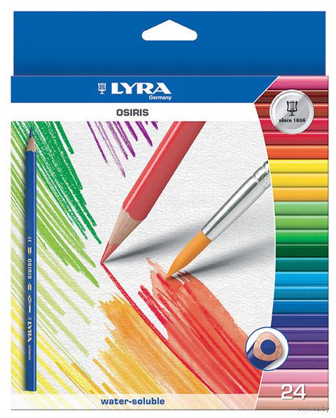 """Цветные карандаши """"OSIRIS AQUARELL"""" (24 цвета)"""