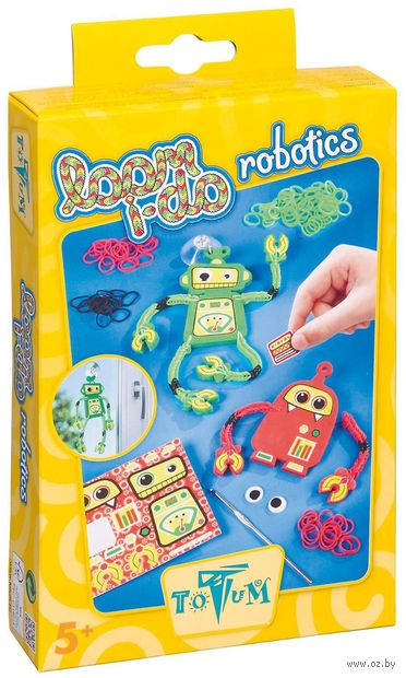 """Набор для плетения из резиночек """"Роботы"""" — фото, картинка"""
