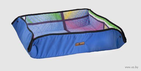 """Лежак для животных """"Пикник"""" (60х44х15 см; синий) — фото, картинка"""