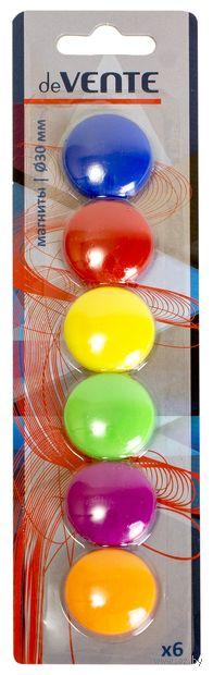 Магниты для доски (6 шт.; 3 см) — фото, картинка