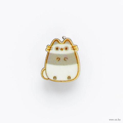 "Значок-пин ""Полосатый кот"" (арт. 662) — фото, картинка"