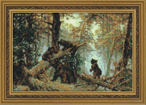 "Вышивка крестом ""Шишкин. Утро в сосновом лесу"" (260х380 мм) — фото, картинка"