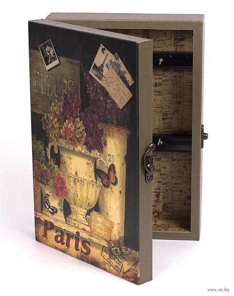 Ящик для ключей деревянный настенный (25,5х18,5х6,5 см; арт. 7790100)