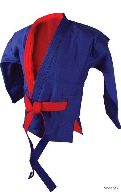 Куртка для самбо двухсторонняя AX55 (р. 30/125; красно-синяя) — фото, картинка