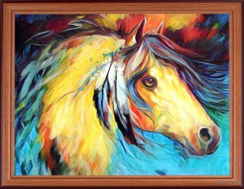 "Вышивка пайетками ""Лошадь"" (300х400 мм) — фото, картинка"