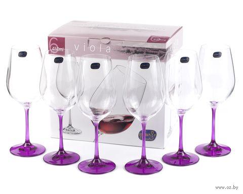 "Бокал для вина стеклянный ""Viola"" (6 шт.; 450 мл; арт. 40729/D4834/450) — фото, картинка"