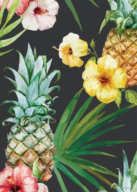 "Открытка ""Цветы и ананасы"" — фото, картинка"