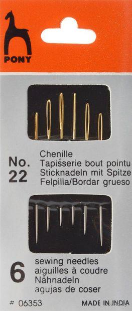 Иглы для штопки №22 (6 шт.) — фото, картинка