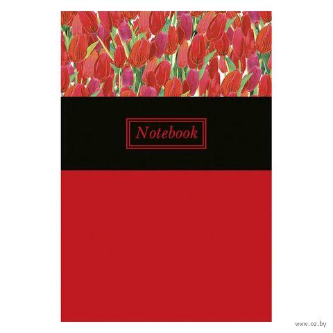 """Записная книжка """"Красные тюльпаны"""" (165х245 мм) — фото, картинка"""