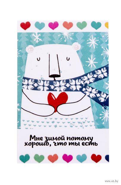 "Мини-открытка ""Зимнее настроение"" — фото, картинка"