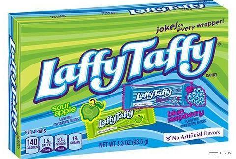 """Конфеты жевательные """"Laffy Taffy. Кислое яблоко и голубая малина"""" (93,5 г) — фото, картинка"""