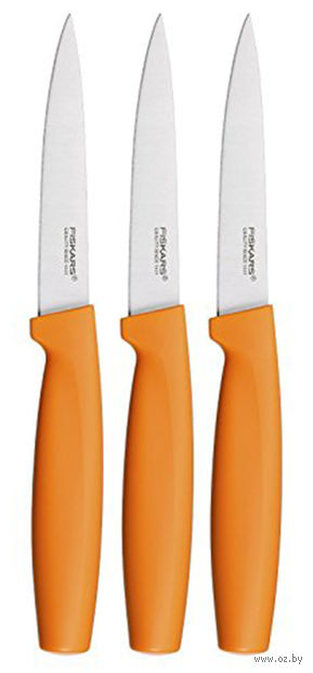 Набор ножей для чистки оранжевый Functional Form Fiskars (3 штуки)
