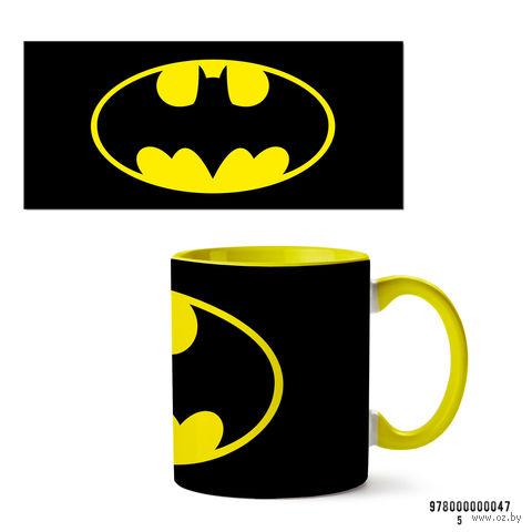 """Кружка """"Бэтмен из вселенной DC"""" (арт. 047, желтая)"""