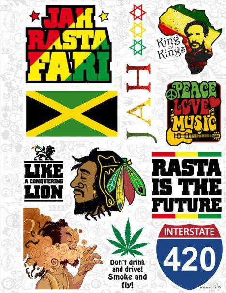 "Набор виниловых наклеек №32 ""Reggae"""