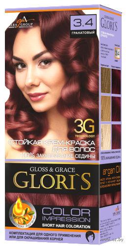 Крем-краска для волос (тон: 3.4, гранатовый) — фото, картинка