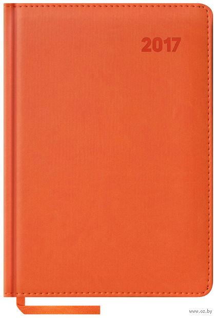 """Ежедневник датированный """"Vivella"""", 2017 (А5; 176 листов; оранжевый)"""