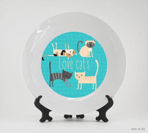 """Тарелка """"Love cat's"""" (арт. 675)"""