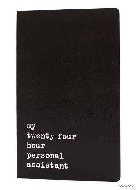 """Записная книжка в линейку """"Volant. My Twenty Four Hour"""" (А5; черная) — фото, картинка"""