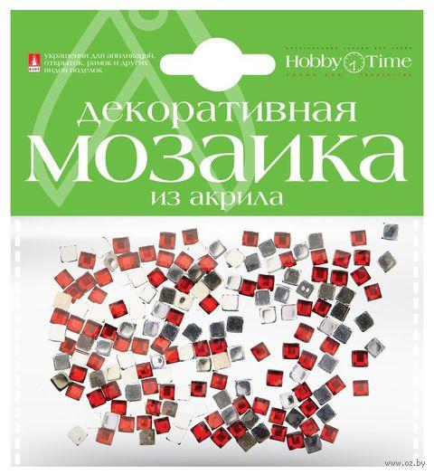 Мозаика декоративная из акрила №7 (4х4 мм; 200 шт.; красный) — фото, картинка