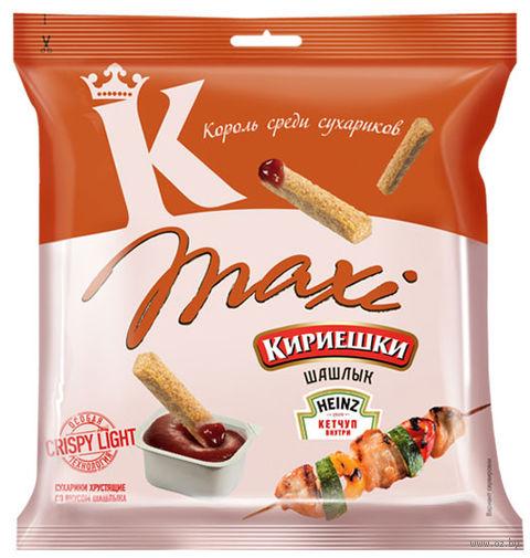 """Сухарики ржано-пшеничные """"Maxi"""" (50 г; томатный соус и шашлык) — фото, картинка"""