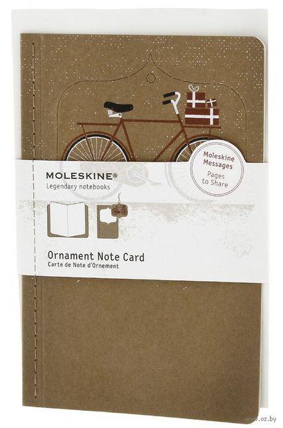 """Набор для письма Молескин """"Ornament Card Bike"""" (большой; мягкая бежевая обложка)"""
