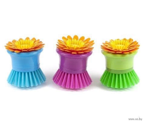 "Щетка для мытья посуды ""Цветок"" (80 мм)"