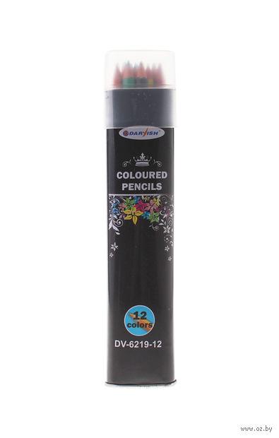 Цветные карандаши в тубусе (12 цветов; арт. DV-6219-12)