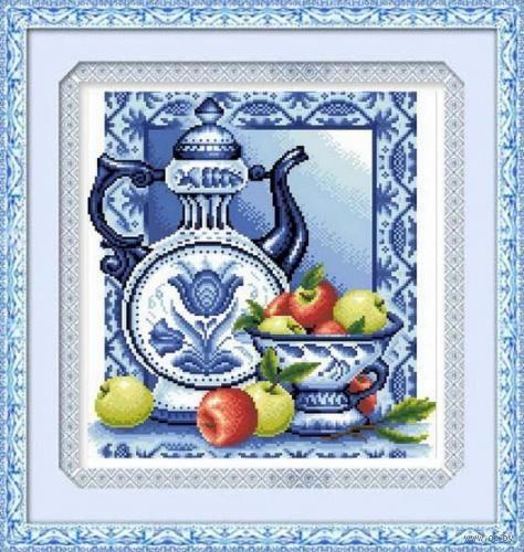 "Алмазная вышивка-мозаика ""Гжель"" (370х400 мм; арт. 7711704) — фото, картинка"