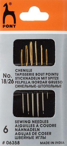 Иглы для штопки №18-26 (6 шт.; арт. 06358) — фото, картинка