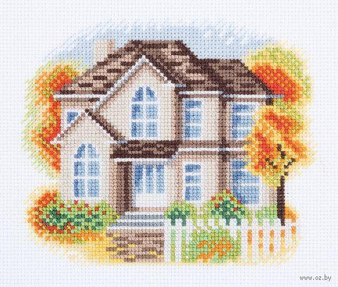 """Вышивка крестом """"Дом на Осенней улице"""" (160х130 мм) — фото, картинка"""