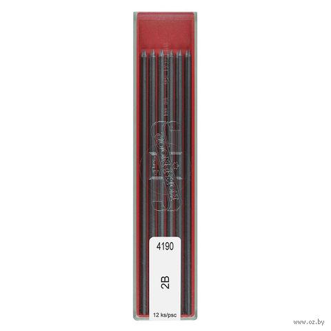 Грифели для цангового карандаша (12 шт.; 2 мм; 2B)