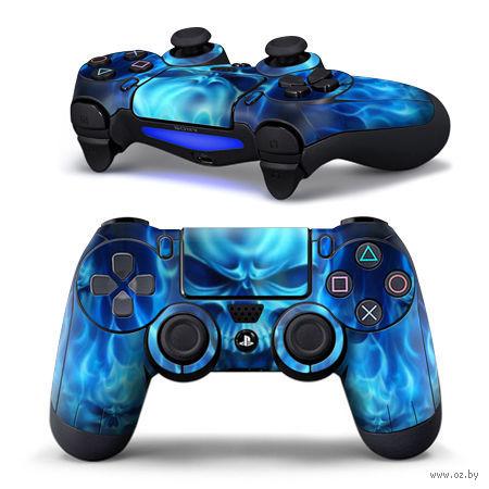 """Наклейка защитная для геймпада """"Blue Skull"""" (TN-PS4QB-0045) (PS4)"""