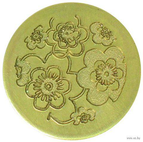 """Сменная насадка для восковой печати """"Цветочное ретро"""" (25 мм, арт. MSH728RETR)"""