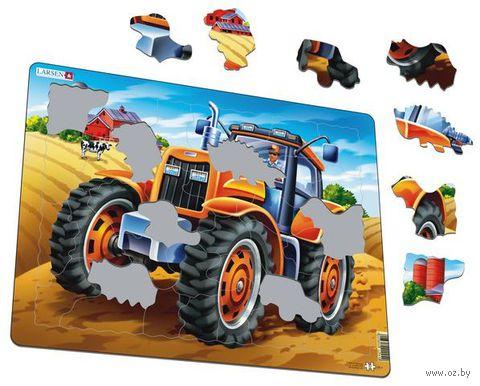 """Пазл-рамка """"Трактор"""" (37 элементов) — фото, картинка"""