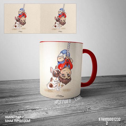 """Кружка """"Человек-паук"""" (1232, красная)"""