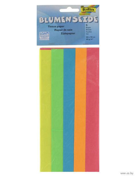 Бумага папиросная (500х700 мм; 5 цветов)