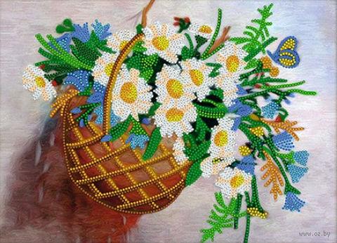 "Вышивка бисером ""Цветы в корзине"" (220х300 мм) — фото, картинка"