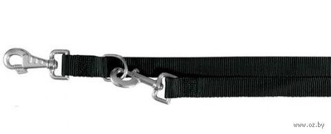"""Поводок регулируемый для собак """"Classic"""" (размер XS-S, 200 см, черный)"""